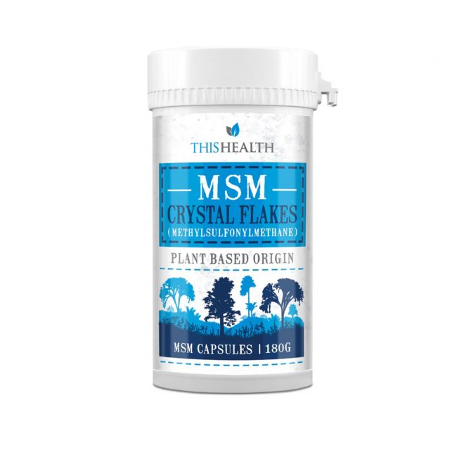 MSM Canadian Crystal Flakes Capsules  -  180 Capsules